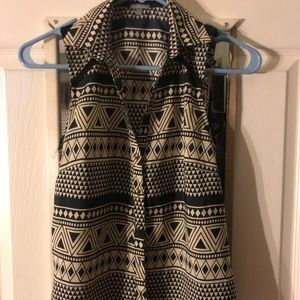 Collared button down top